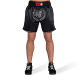 MURDO MUAY THAI / KICKBOXING SHORTS - BLACK/GRAY