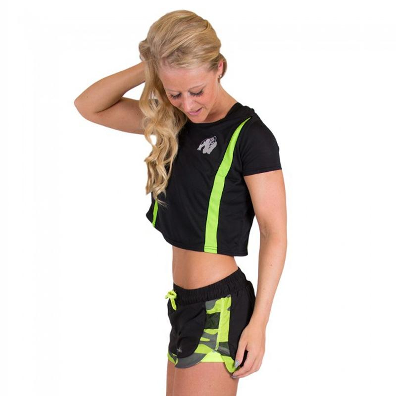 Columbia Crop Top Black/Neon Lime