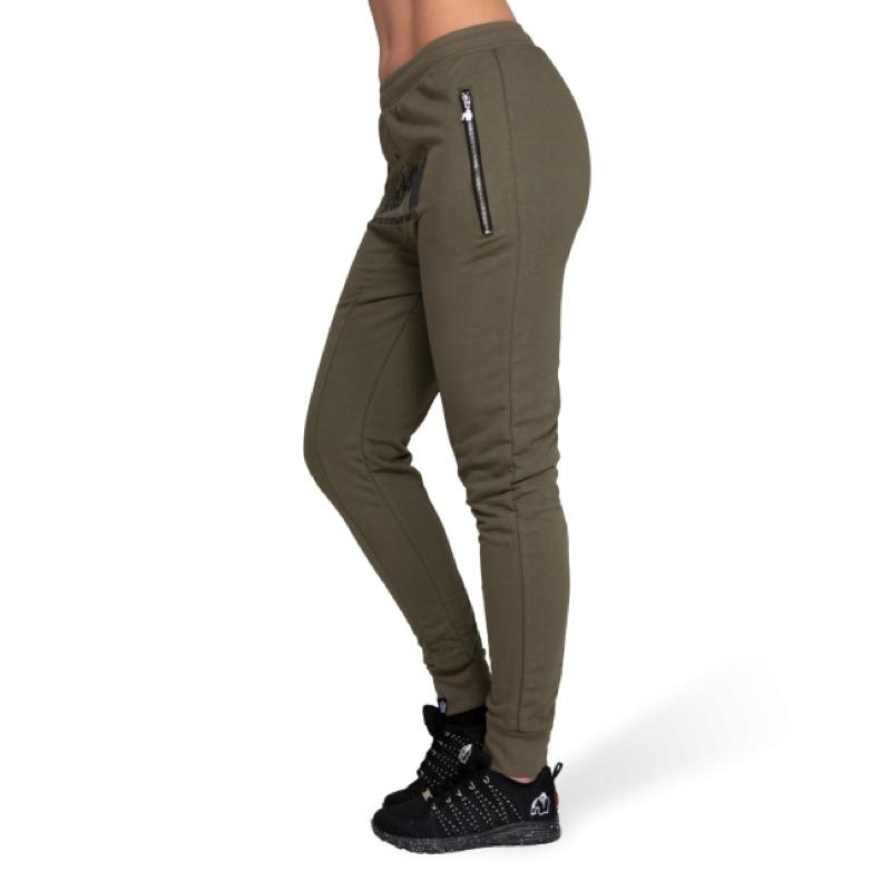 Celina Drop Crotch Joggers- Army Green