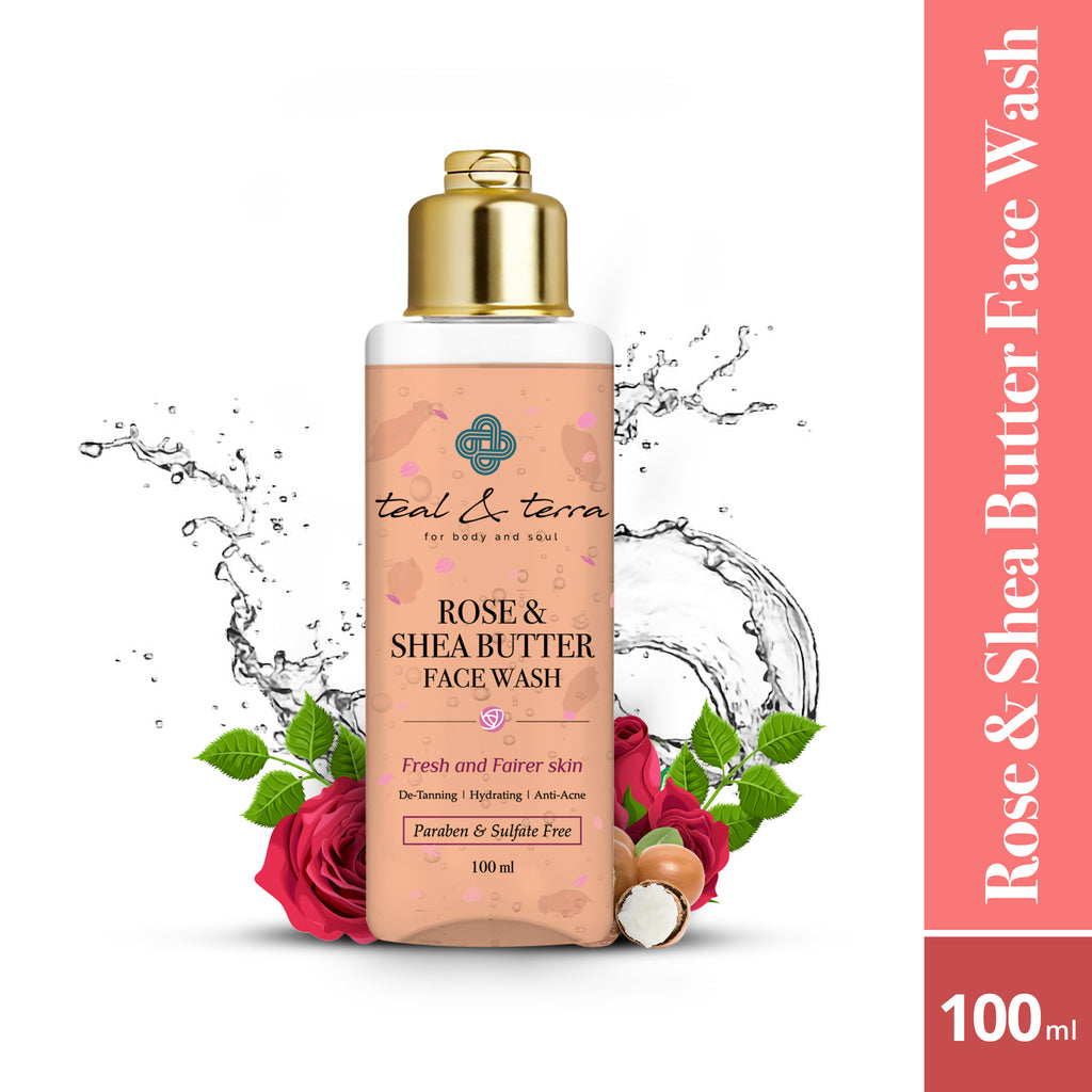 Rose and Shea Butter Face Wash, 100ml