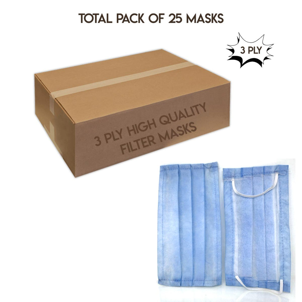 3 Ply Face Mask - Pack of 25.