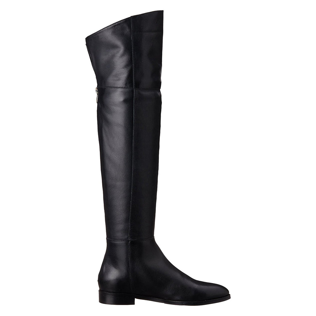 Saint Grace Black Leather Long  Boots - SaintG India