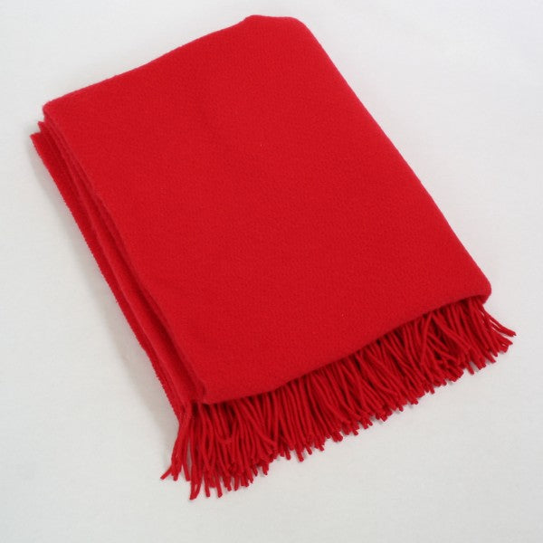 Merino Cashmere Throw - Red