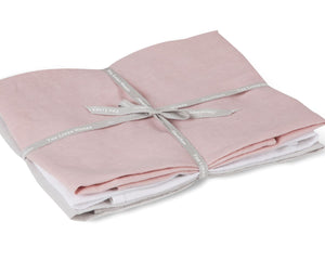 Linen Hand Towels - Rose, White & Grey (set of 3)
