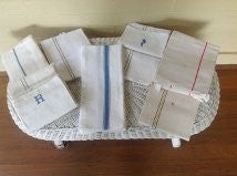 Vintage French Linen - Hand Towels and Napkins