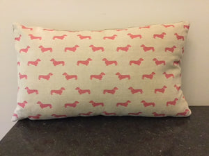 Emily Bond English Linen Dachshund Cushions