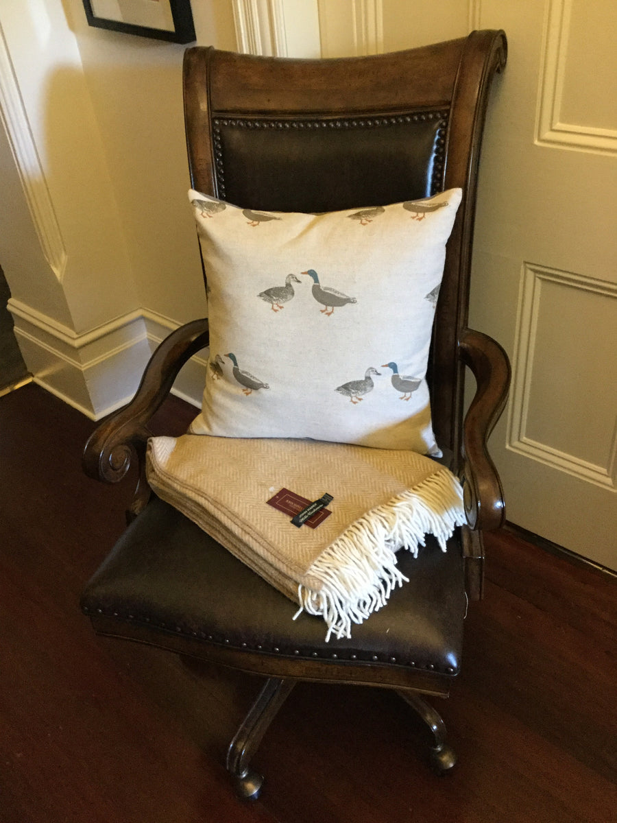 Emily Bond English Linen Duck Cushion
