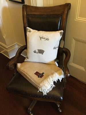Emily Bond English Linen Saddleback Pig Cushion