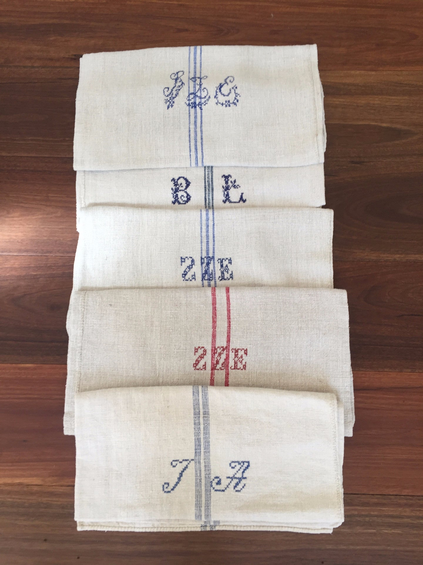 Vintage Hungarian Long Wheat Sacks