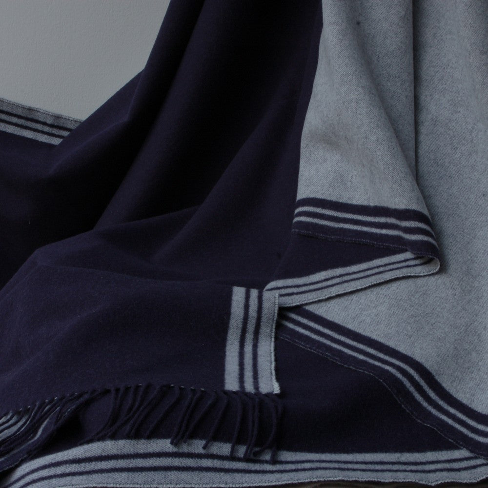 Biggest Blanket Company - Navy Greenwich Throw