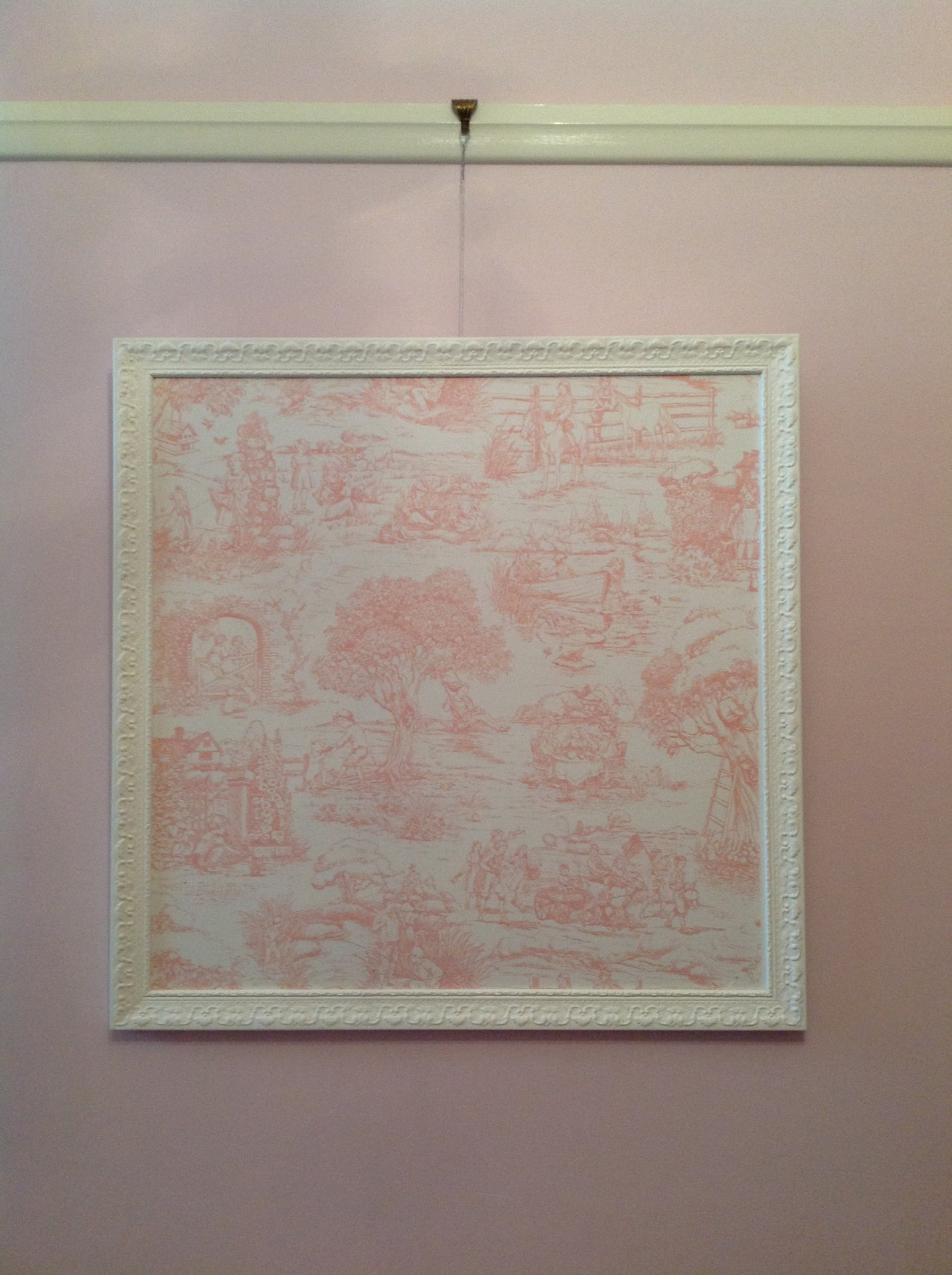 Pink Toile Pinboard