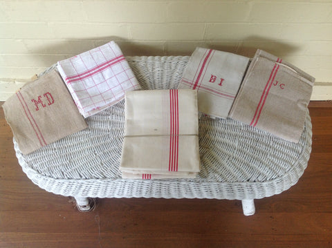 Vintage French Linen - More Reds