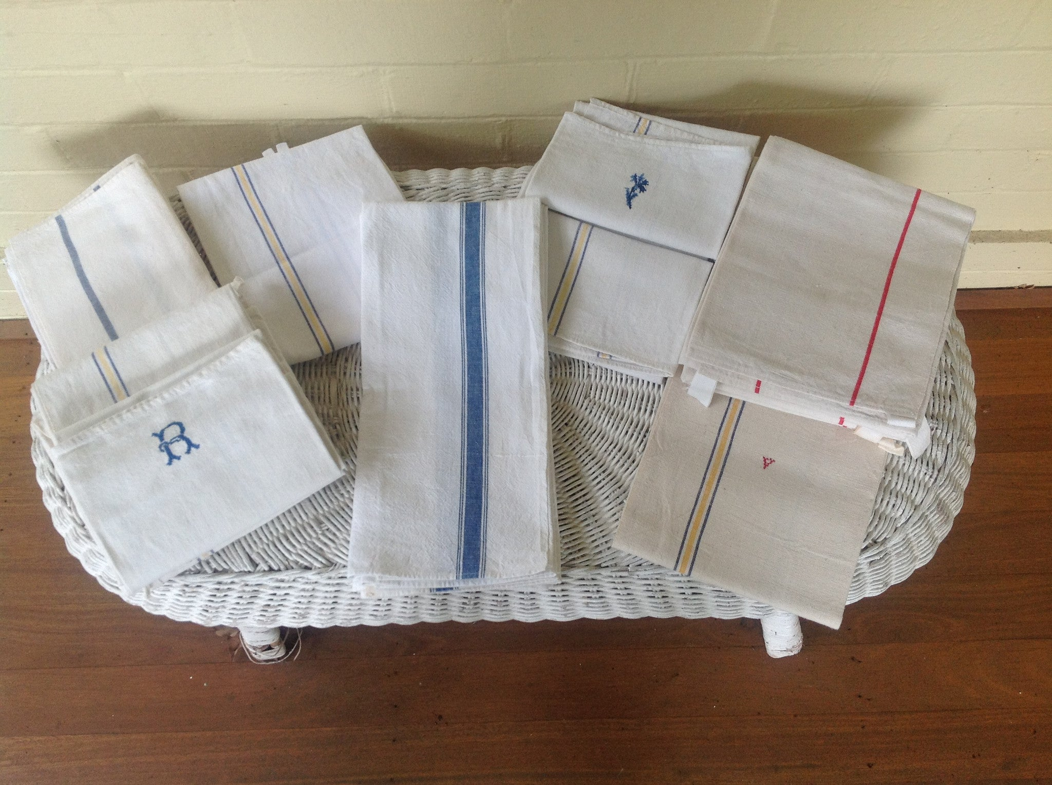 Vintage French Linen - Blues