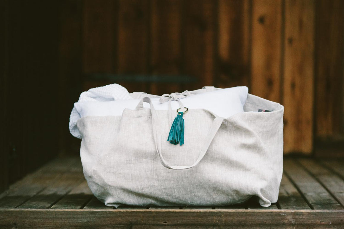 Large Linen Bags - Stone