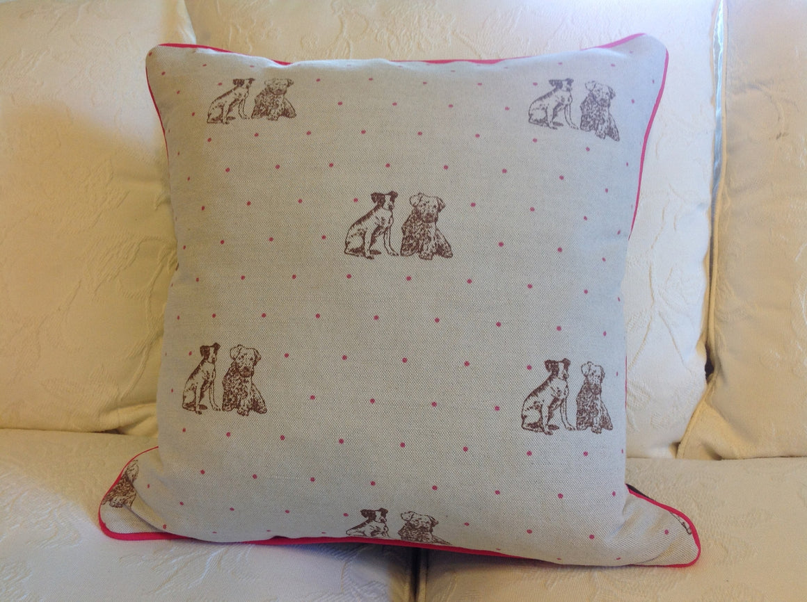 Emily Bond English Linen Little Dog Cushions
