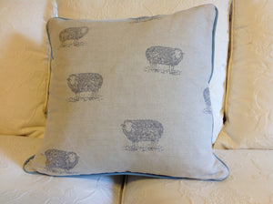 Emily Bond English Linen Sheep Cushions