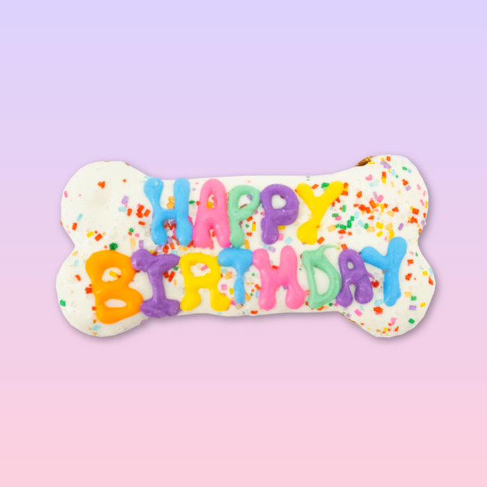 Birthday Frosted Dog Cookie