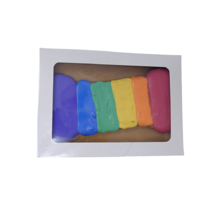 Rainbow Bone Dog Cookie