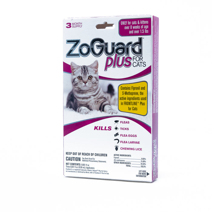 ZoGuard Plus for Cats Flea & Tick Prevention