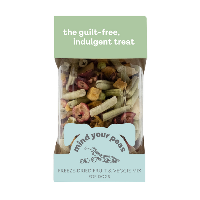 Petknowledgy Mind Your Peas Natural Dog Treats - Freeze Dried Fruit & Veggie Mix