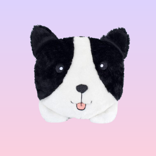 "Border Collie Bunz: Squeaker: 2 round squeakers  Toy size: 7"" x 8"" x 4"""