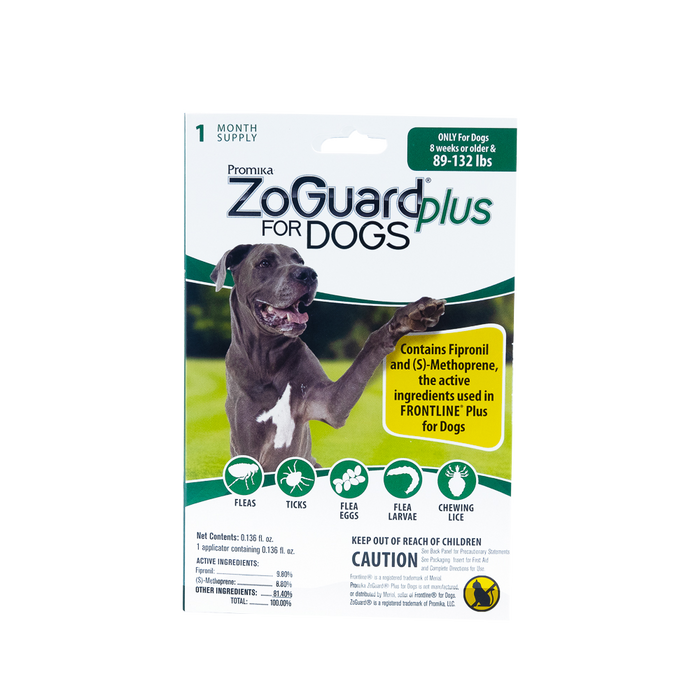 ZoGuard Plus for Dogs - Flea + Tick Prevention - Single Dose
