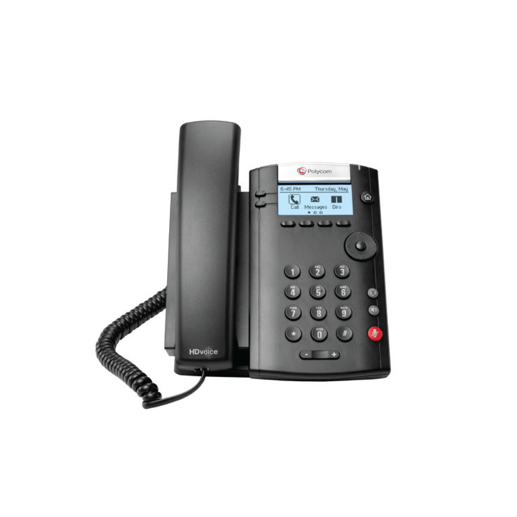 VVX 201 Business Media Phone (PoE) - with Power Supply