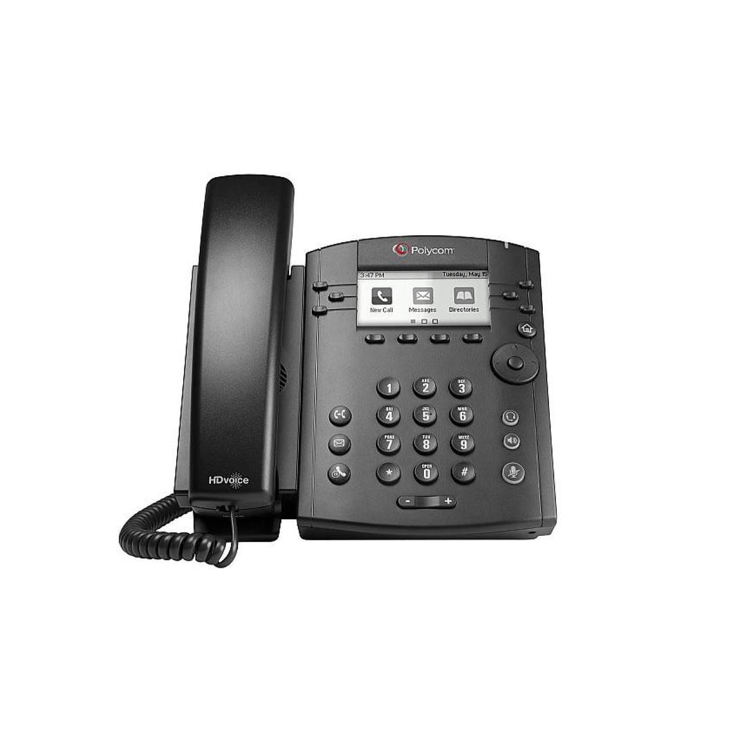 VVX 301 6-line Desktop Phone with HD Voice. PoE - with Power Supply