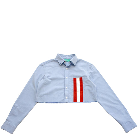CM Stripes Crop Button Up