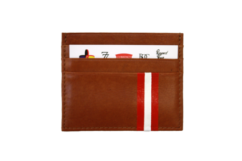 Currency Michaels Stripes Leather Cardholder