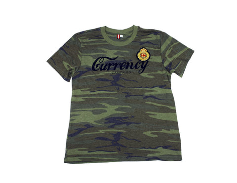 Currency Crest Script T-shirt (Camo)