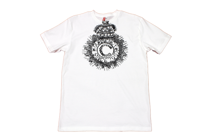 Currency Crest Print T-Shirt (Enlarged)