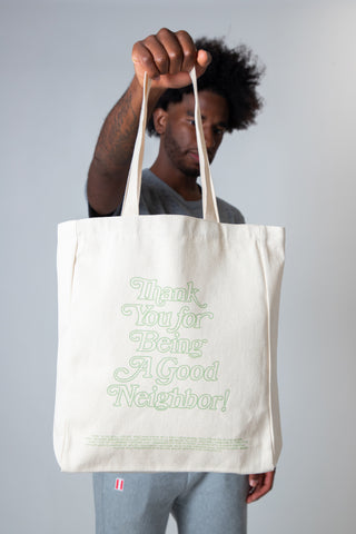 CURRENCY STUDIO x GOOD NEIGHBOR SHOP TOTE BAG