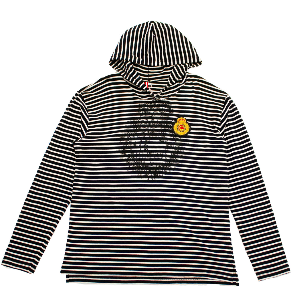 Stripes & Crest T-Shirt Hoody