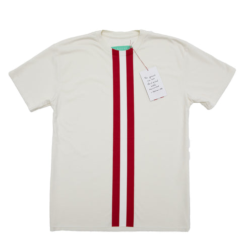 CUT & SPLIT HEAVY CM STRIPES T-SHIRT