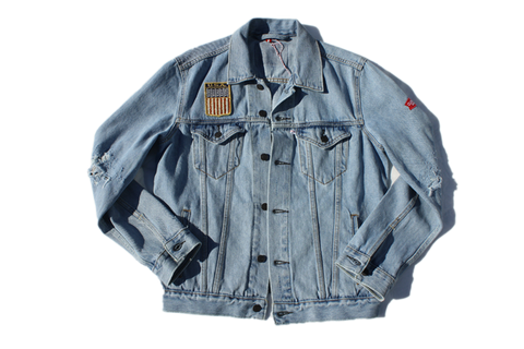 Currency USA Distressed Denim Jacket