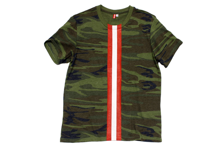 Currency Michaels Stripes T-shirt (Camo)