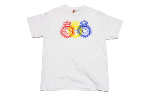 Tri-Color Crest Print T-Shirt