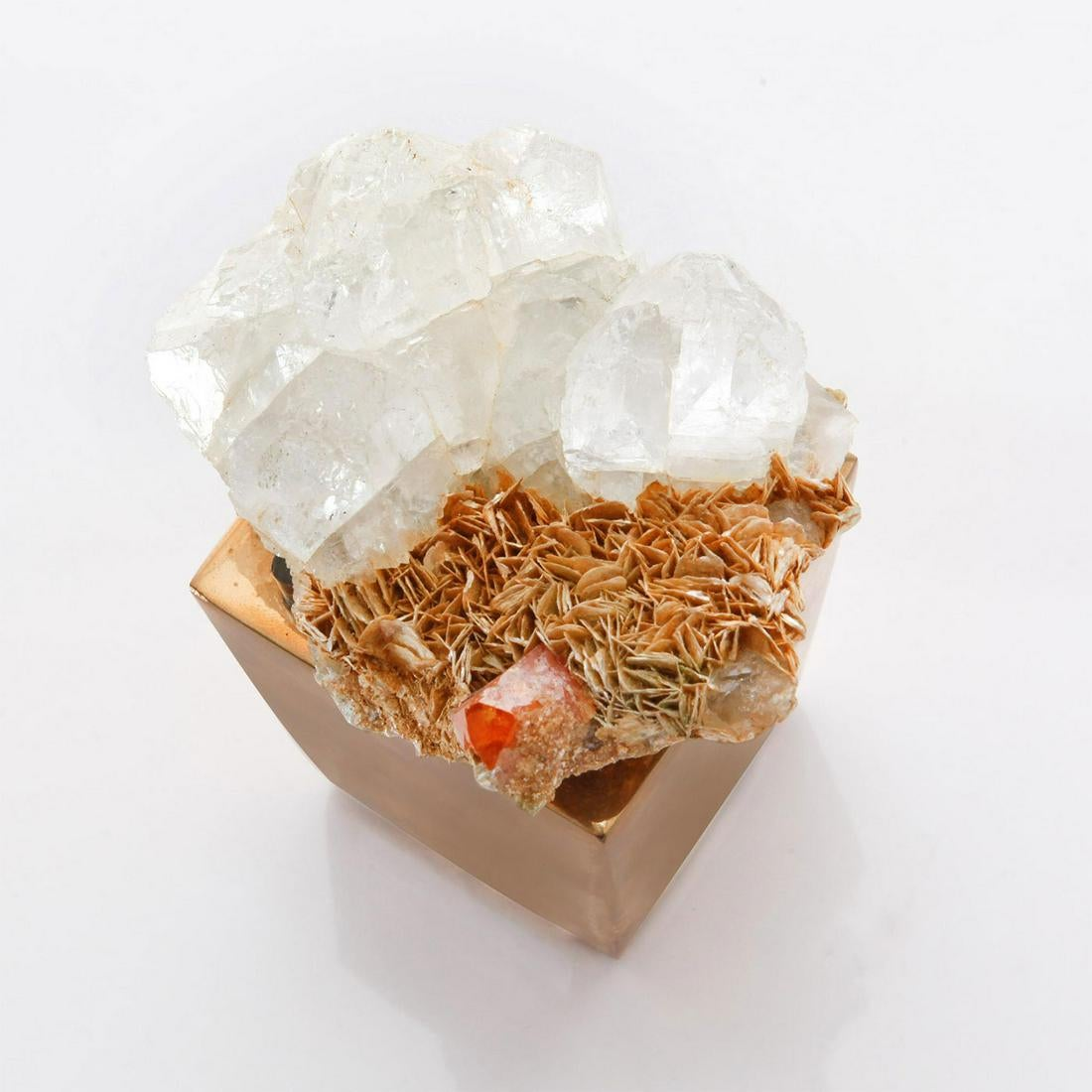 Gaia Crystal Cluster With Gold Base