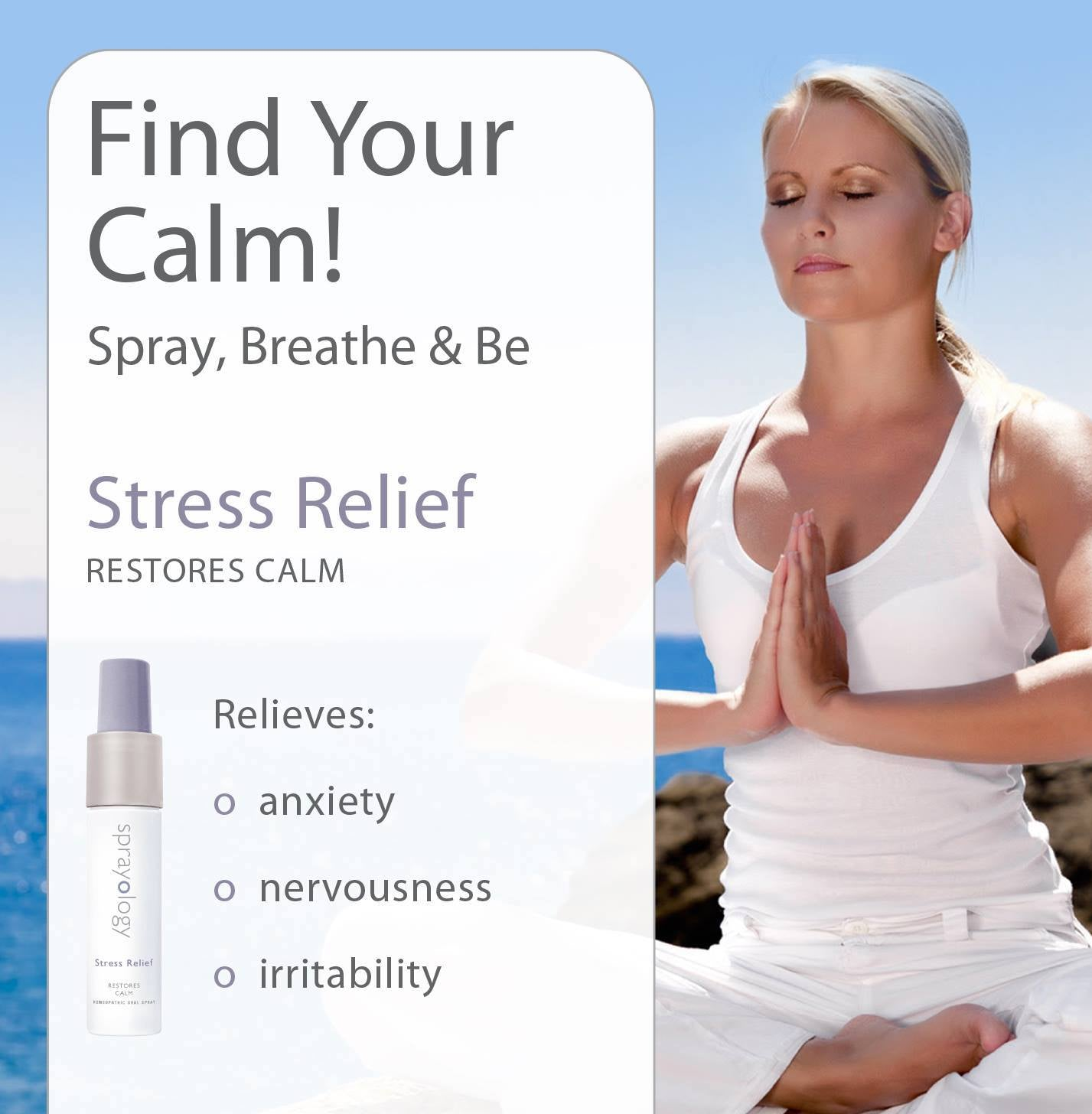 Stress Relief Homeopathic Spray by Sprayology