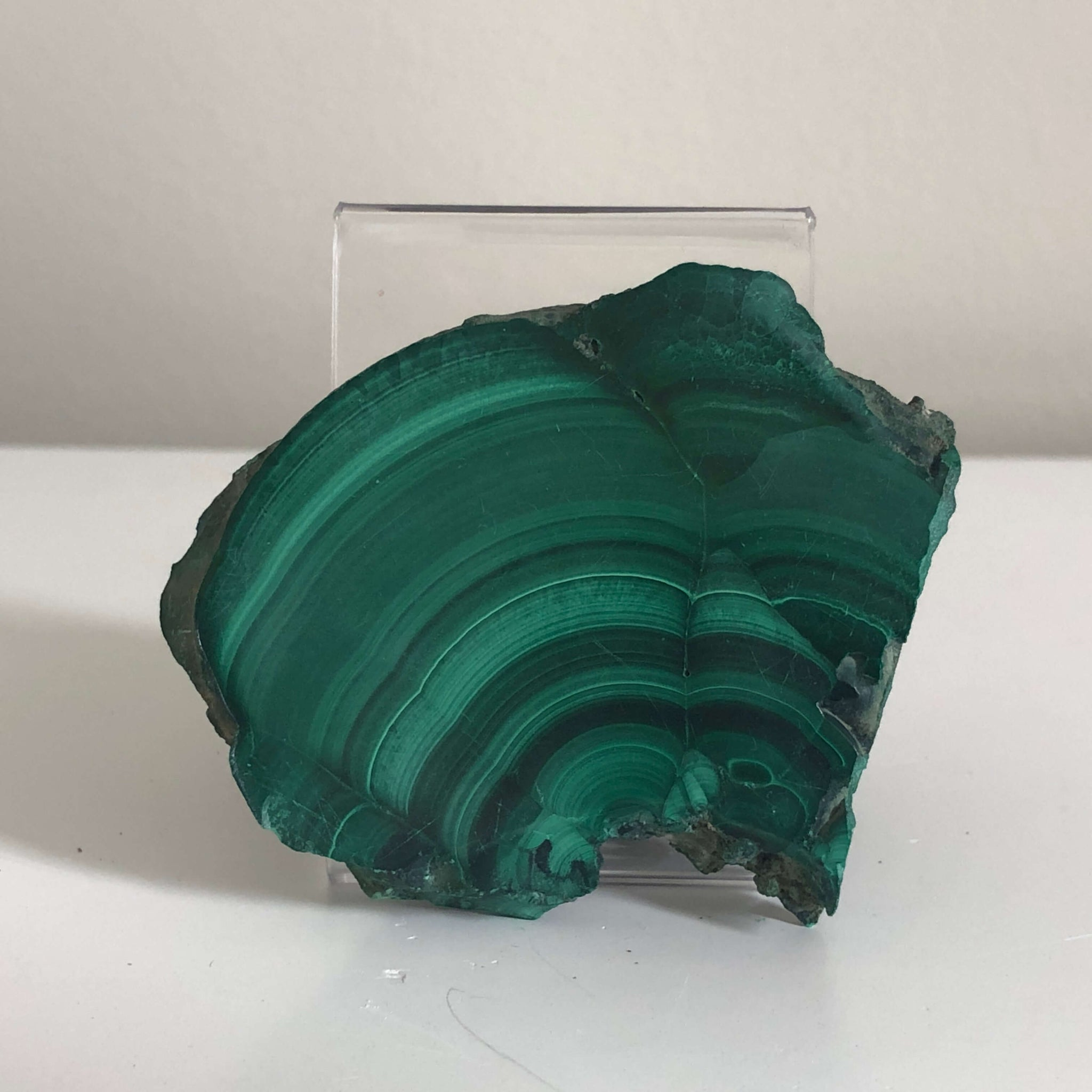Malachite slab