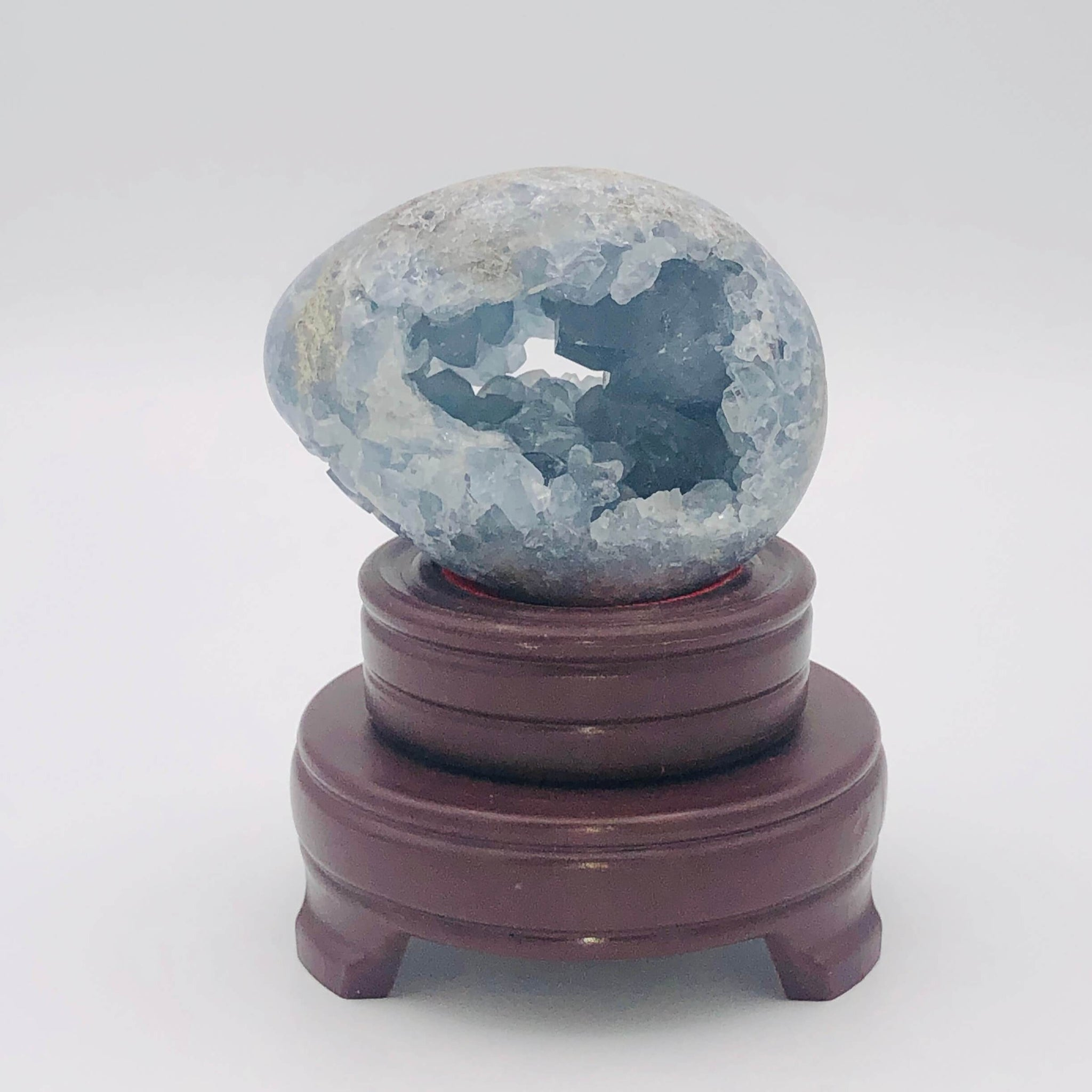 Celestite Crystal Egg