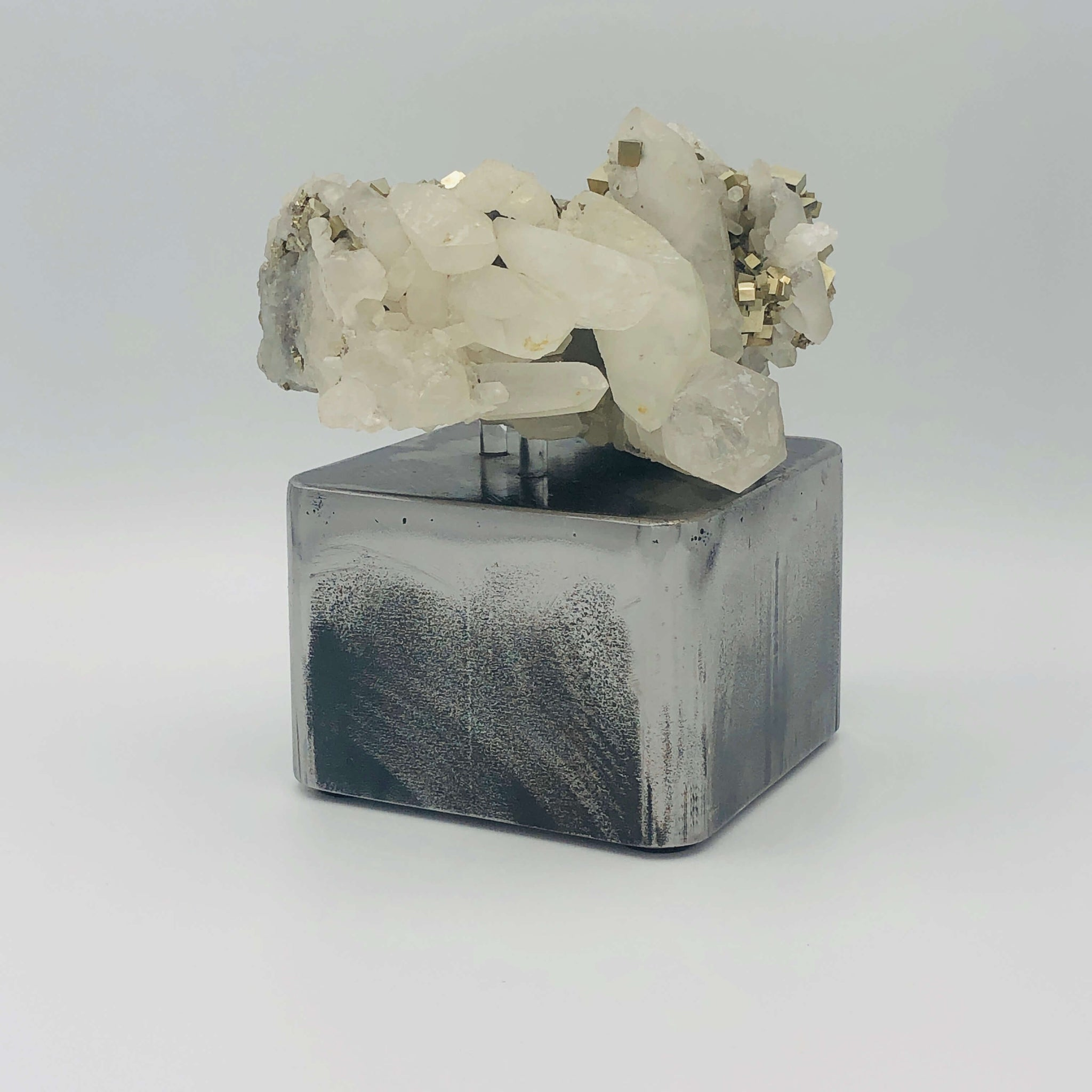 Hera - Crystal Cluster With Silver Base