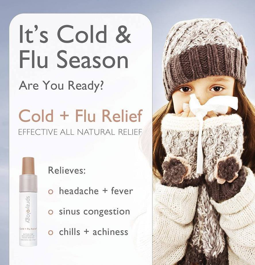 Cold & Flu Relief Homeopathic Spray by Sprayology