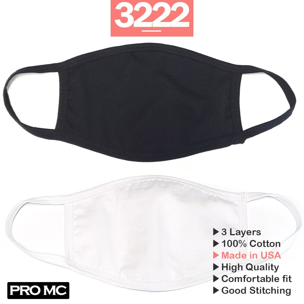 100% Cotton Masks (Black)