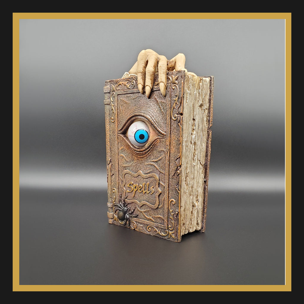 Spell Book with Rolling Eye Bank
