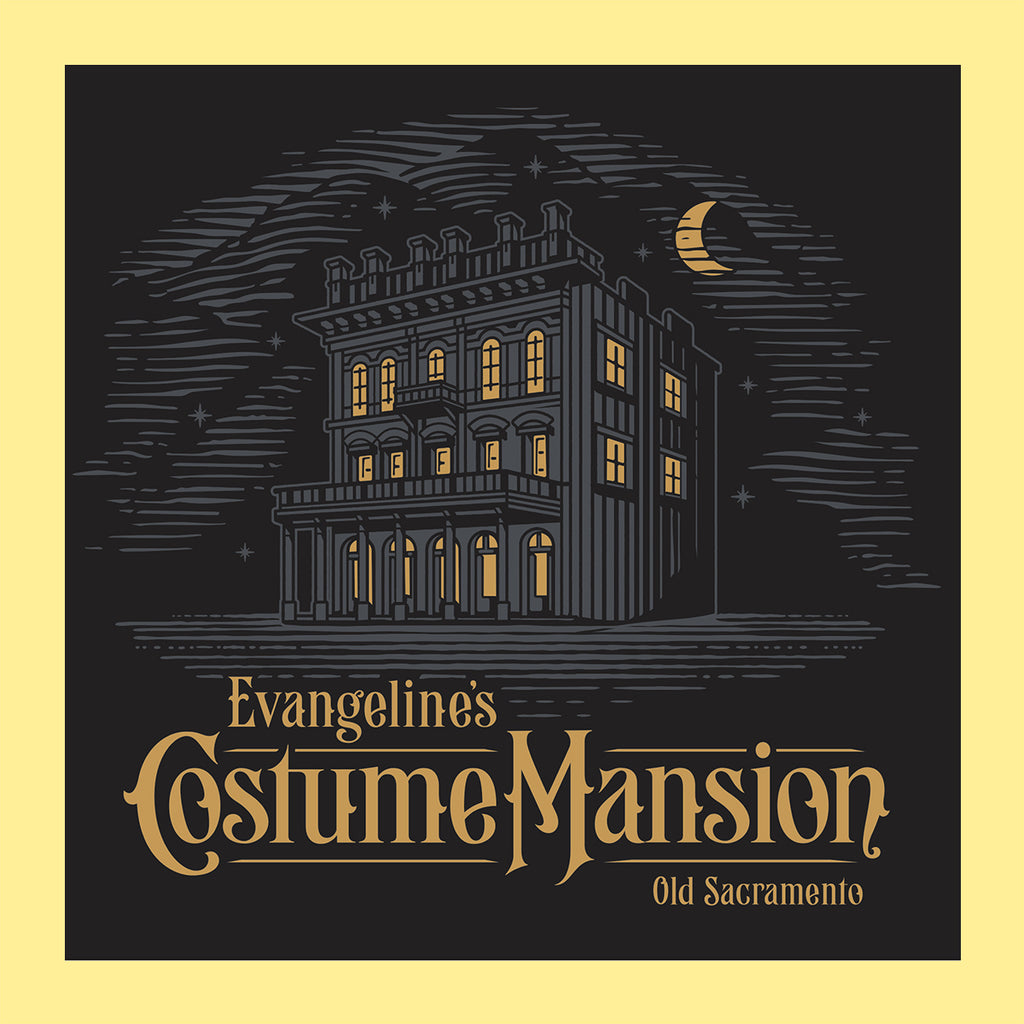Evangeline's Costume Mansion Logo T-Shirt (Detail)