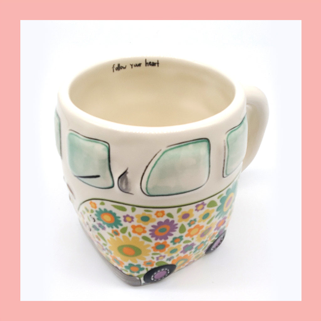 Follow Your Heart Van Folk Mug