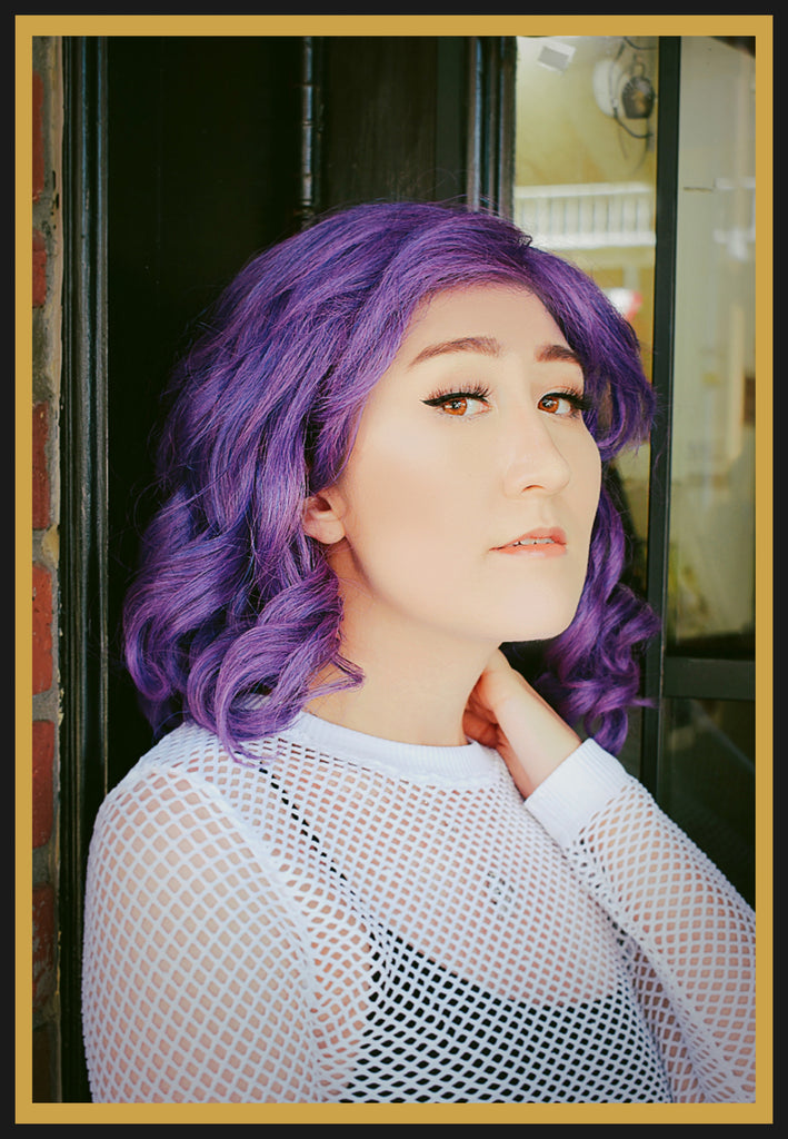 Descendant Mal Wig in Purple