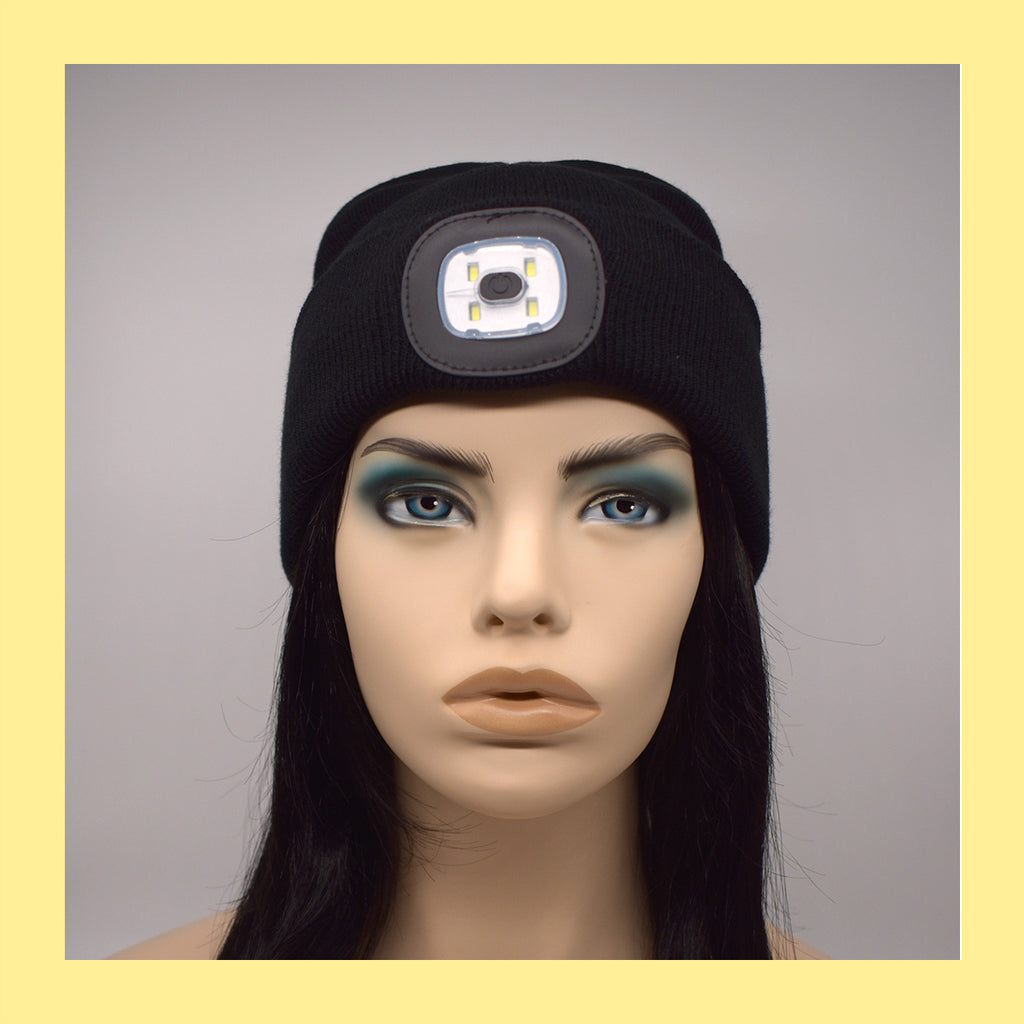 Night Scout Rechargeable LED Beanie in Black